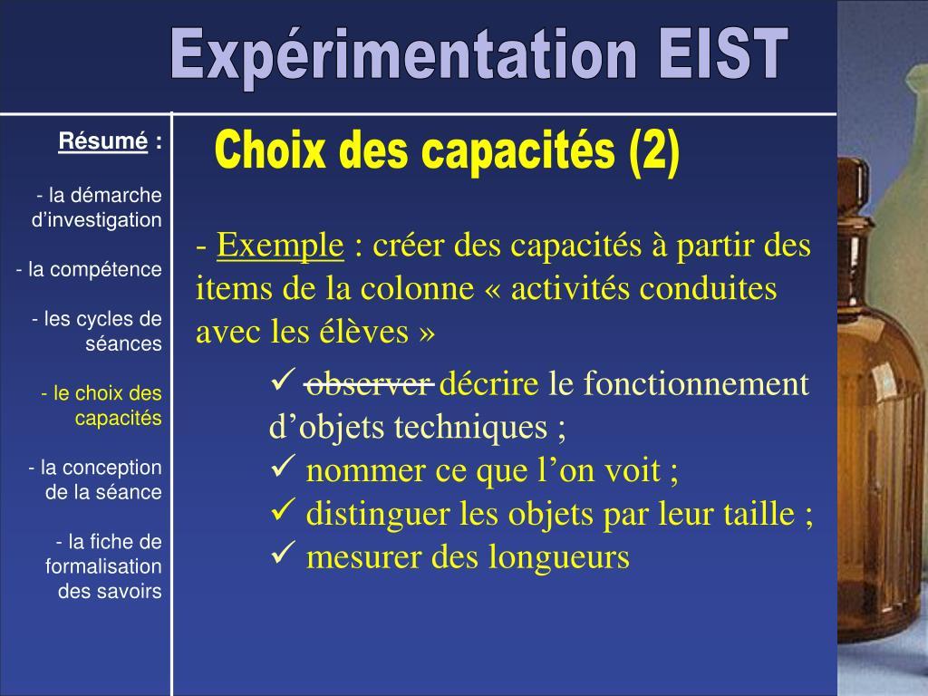 Expérimentation EIST