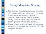 snowy mountains scheme