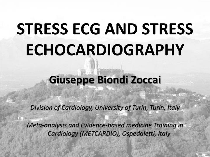 stress ecg and stress echocardiography n.