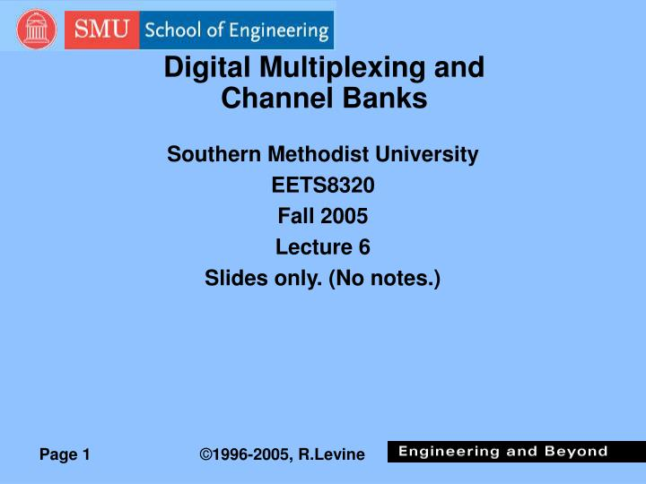 digital multiplexing and channel banks n.