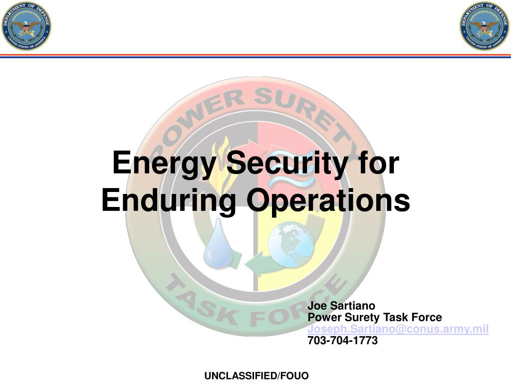 energy security for enduring operations l.