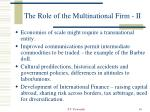 the role of the multinational firm ii