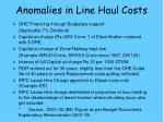 anomalies in line haul costs