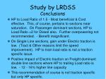 study by lrdss conclusions