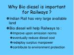 why bio diesel is important for railways