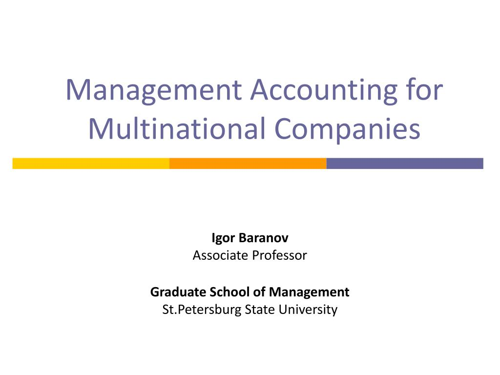 management accounting for multinational companies l.