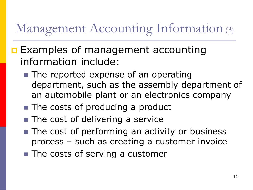Management Accounting Information That Creates Value Ppt Download