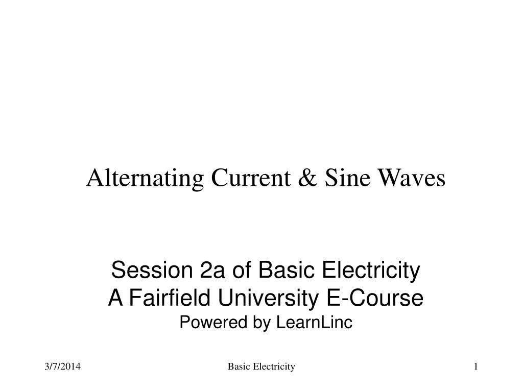 alternating current sine waves l.