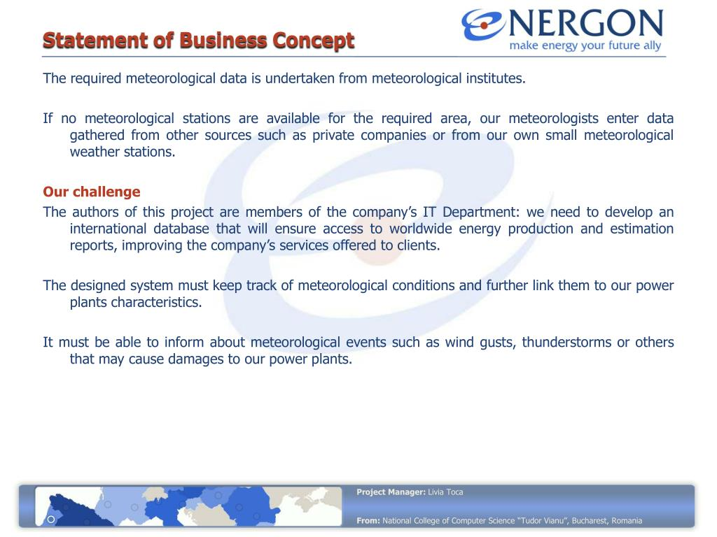 Statement of Business Concept