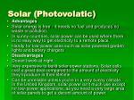 solar photovolatic