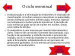 o ciclo menstrual