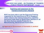 how bcic has gone on training of trainers public private partnership contd24