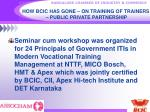 how bcic has gone on training of trainers public private partnership