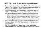 msc 1b lunar polar science applications
