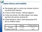 game theory and mobility