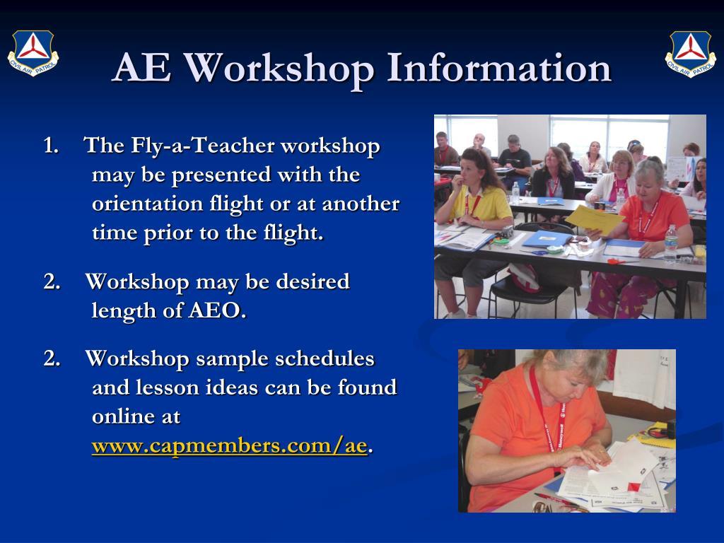 AE Workshop Information