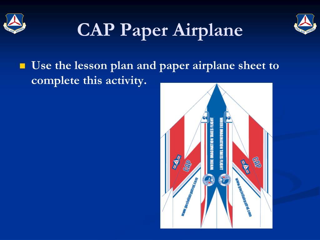 CAP Paper Airplane
