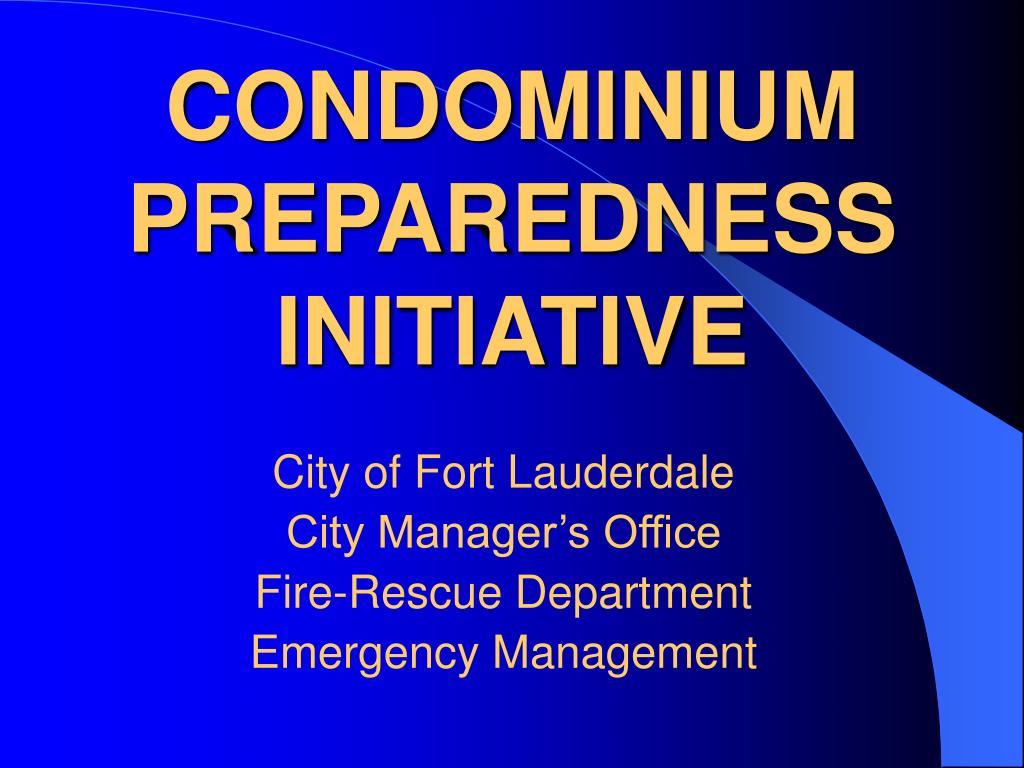 condominium preparedness initiative l.