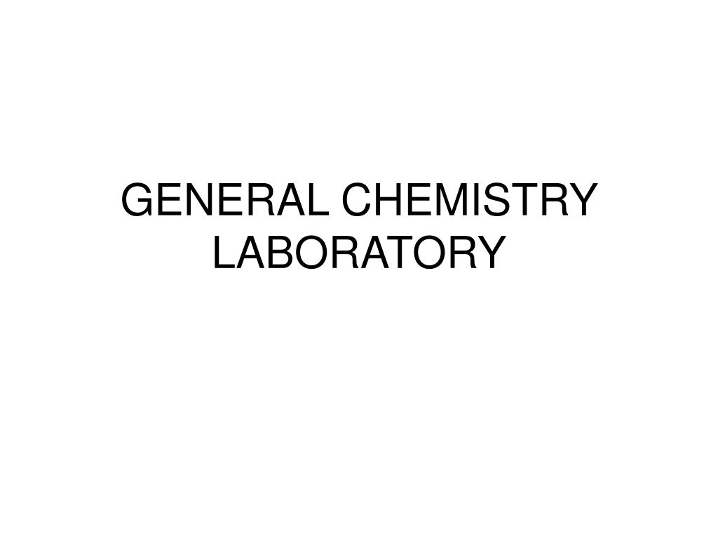 general chemistry laboratory l.