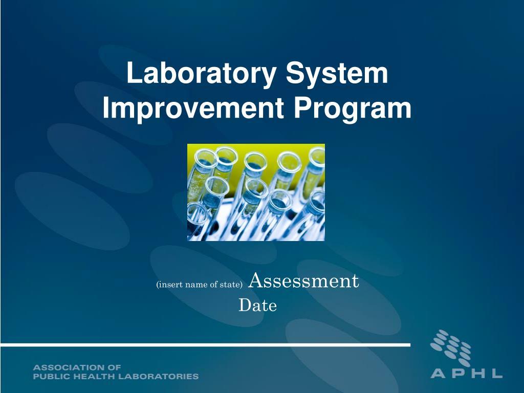 laboratory system improvement program l.