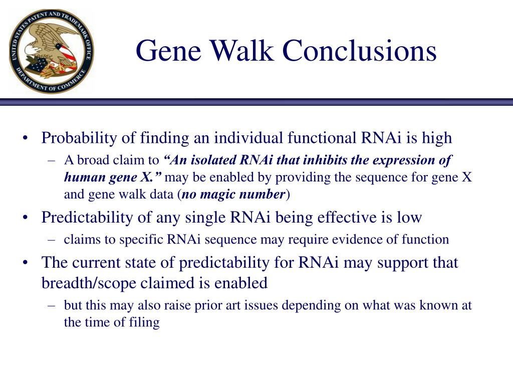 Gene Walk Conclusions