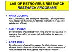 lab of retrovirus research research programs
