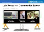 lab research community safety