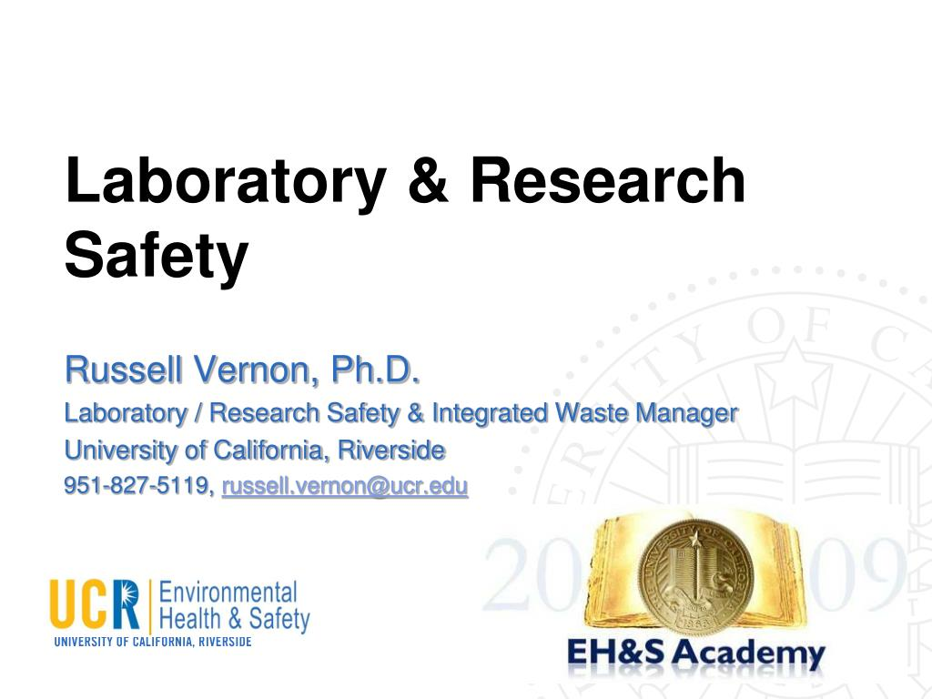 laboratory research safety l.
