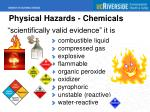 physical hazards chemicals