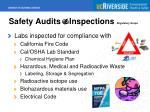 safety audits inspections regulatory scope
