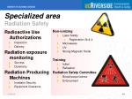 specialized area radiation safety