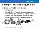 synergy hazards are just tools42