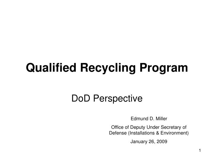 qualified recycling program n.