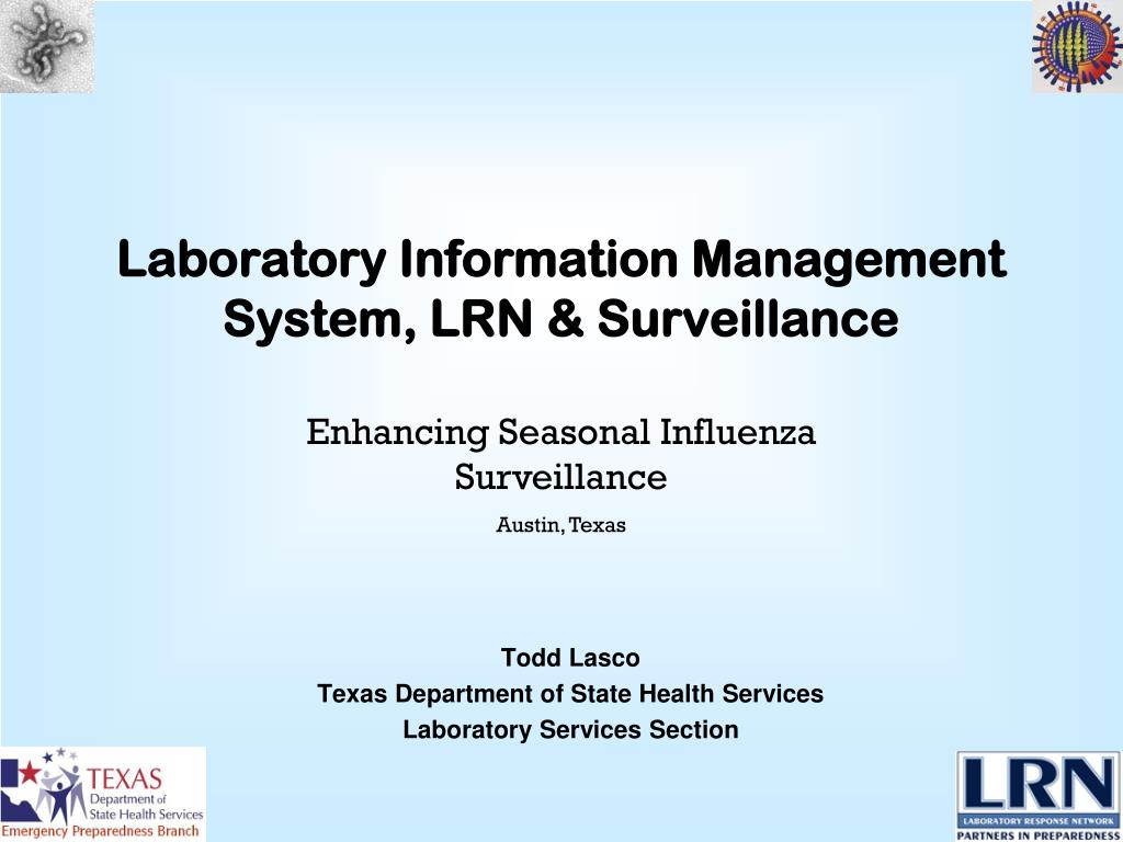 laboratory information management system lrn surveillance l.
