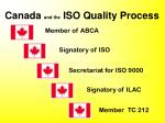canada and the iso quality process