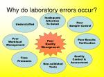 why do laboratory errors occur