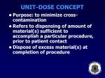 unit dose concept