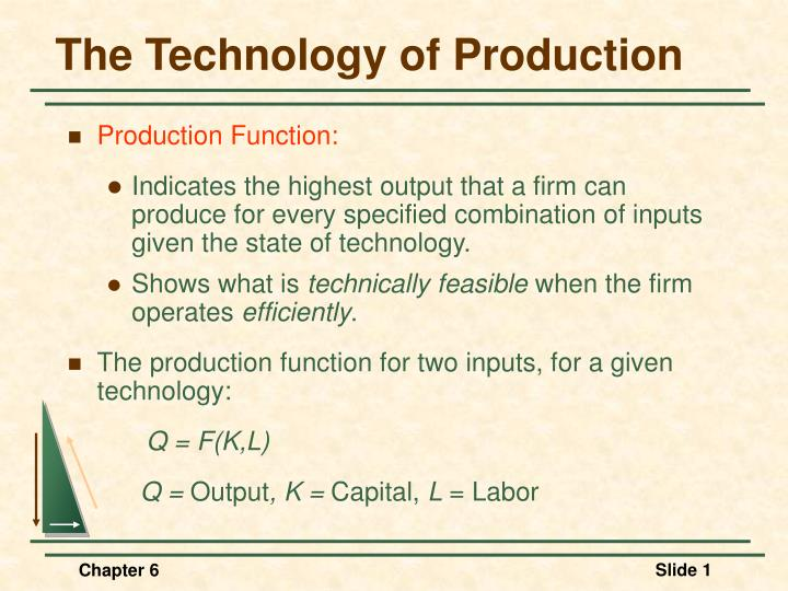 the technology of production n.
