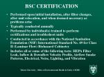 bsc certification
