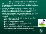 bsc use safe work practices32