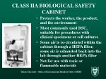 class iia biological safety cabinet