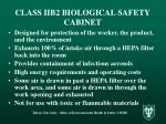 class iib2 biological safety cabinet