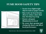 fume hood safety tips10