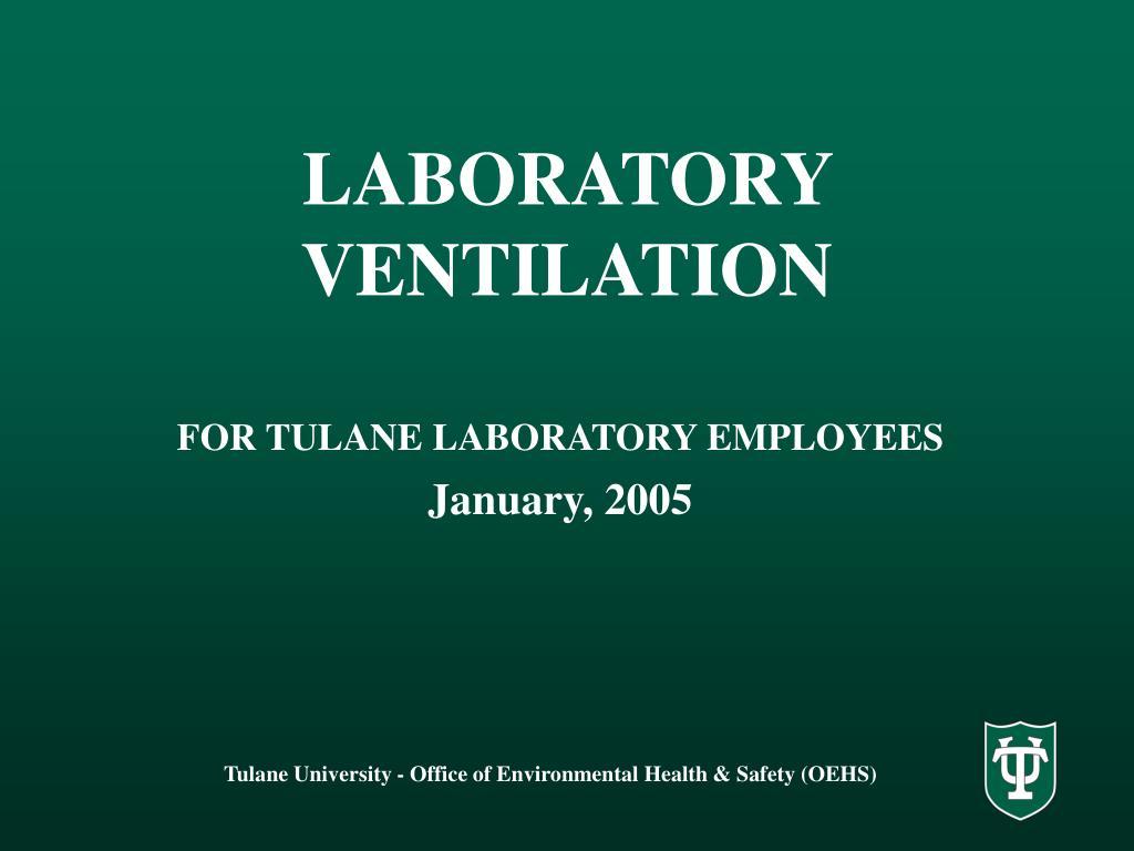 laboratory ventilation l.