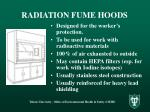 radiation fume hoods