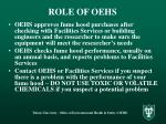 role of oehs