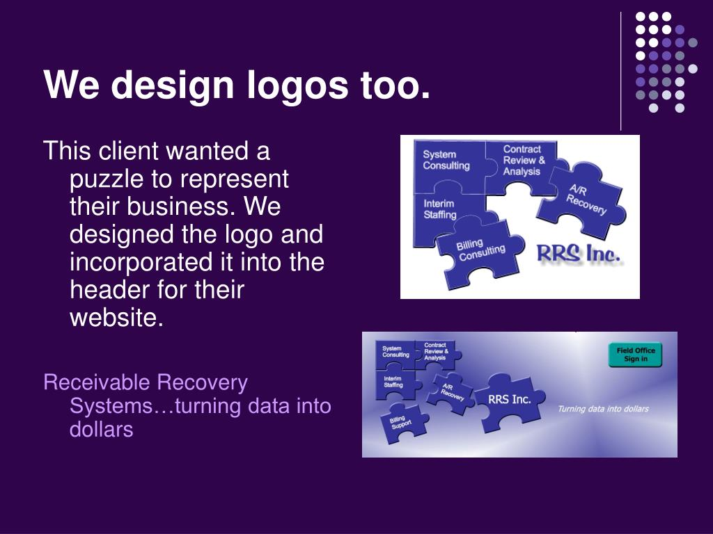 We design logos too.