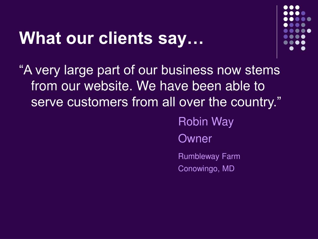 What our clients say…