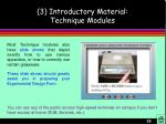 3 introductory material technique modules22