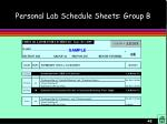 personal lab schedule sheets group b